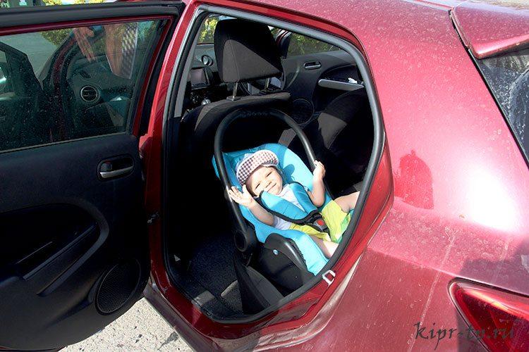 Аренда авто на Кипре с детьми
