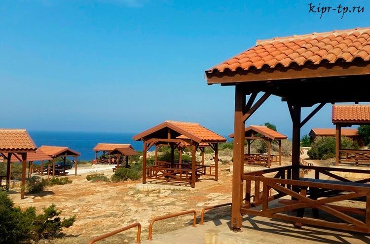 Зона для пикника на мысе Греко