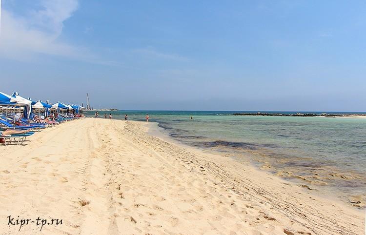 Пляж Айя-Фекла (Айя-Текла, Agia Thekla Beach)