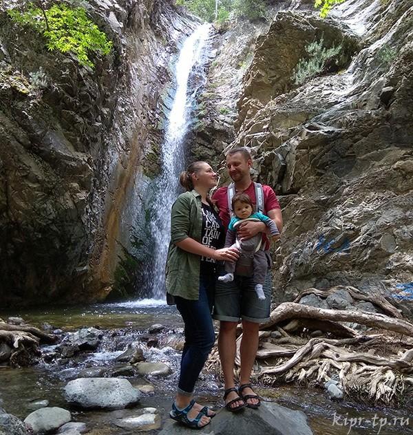 Водопад Милломерис Кипр