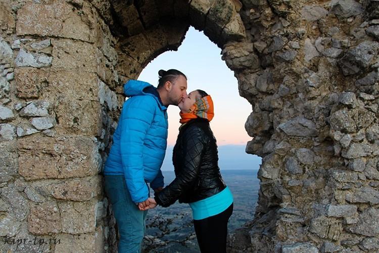 Костя и Марина Саморосенко в замке Кантара